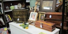 Various wooden treasure boxes.